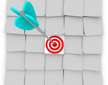 Targeted Marketing - Sticky Notes and Arrow