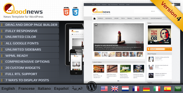 Goodnews News/Magazine WordPress Theme