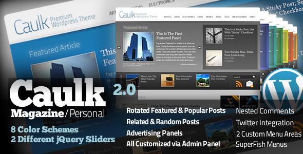 Caulk Personal Magazine WP theme