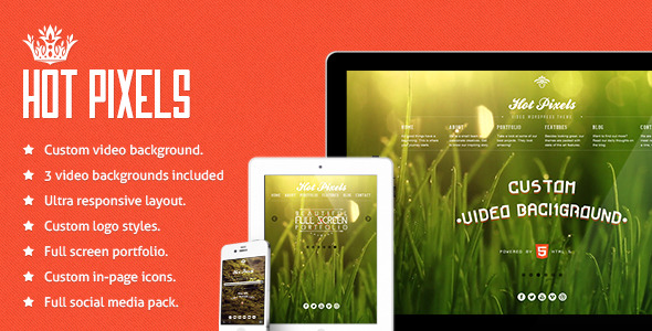 Hotpixels Video Background WP theme