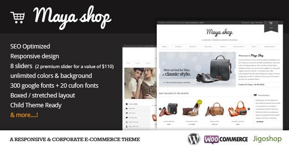 MayaShop WP eCommerce theme
