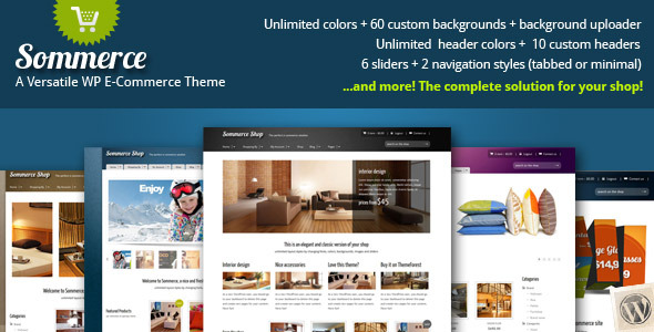 Sommerce eCommerce WP theme