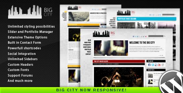 BigCity Personal Blog WordPress theme