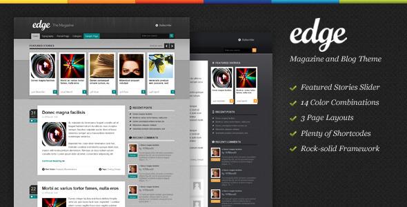 Edge Magazine Theme