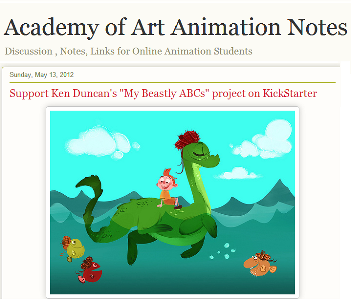 hand drawn animation blog
