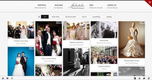 JPhotolio Wedding Photography Portfolio theme