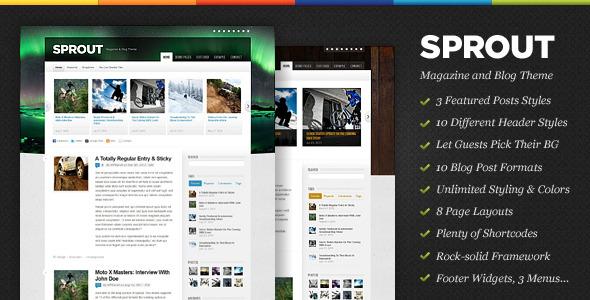 Sprout Magazine & Blog WordPress Theme