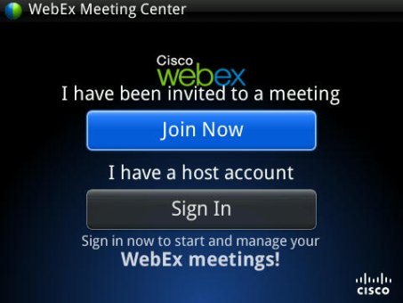 Webex Meeting center iPhone app