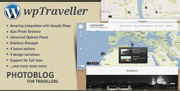 wpTraveller Travel Blog theme