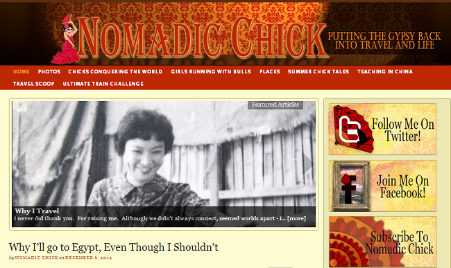 Nomadic Chick travel blog