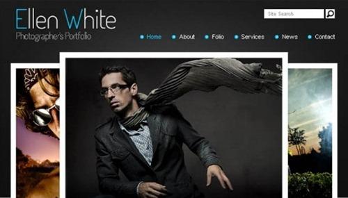 Photographer's portfolio free HTML CSS template