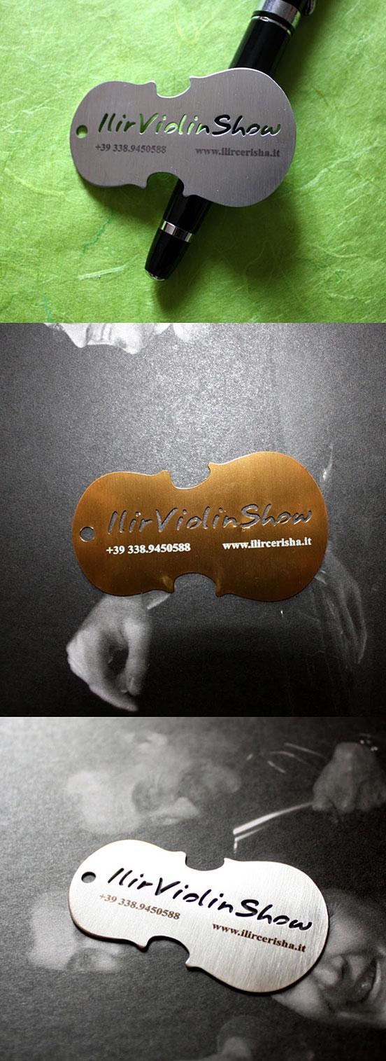Violin-Metal-Cut-business-card design