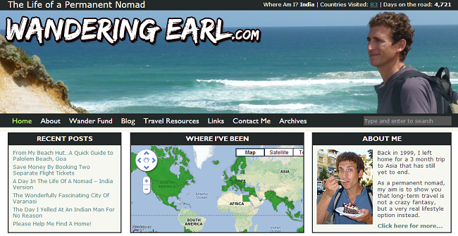 Wandering Earl travel blog