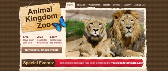 Zoo free css html template