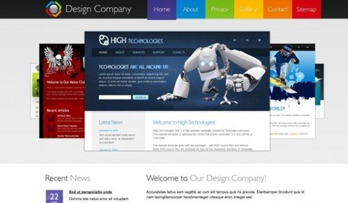 design company free HTML CSS template