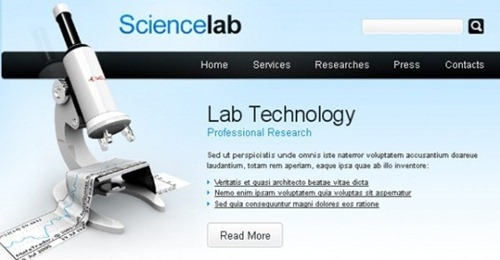 free science website HTML CSS Template