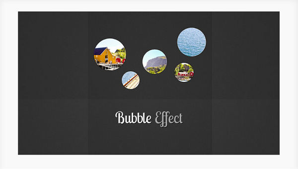 bubble effect jQuery plugin