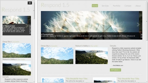 respond free CSS/HTML template
