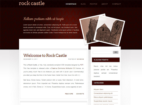 rockcastle free CSS template
