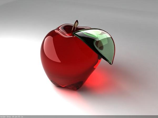 glass apple 3d tutorial