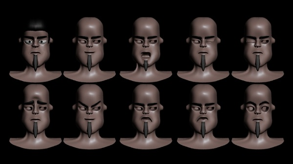 head animation in 3D