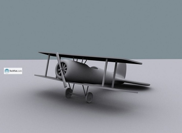 creating air plane model in 3d