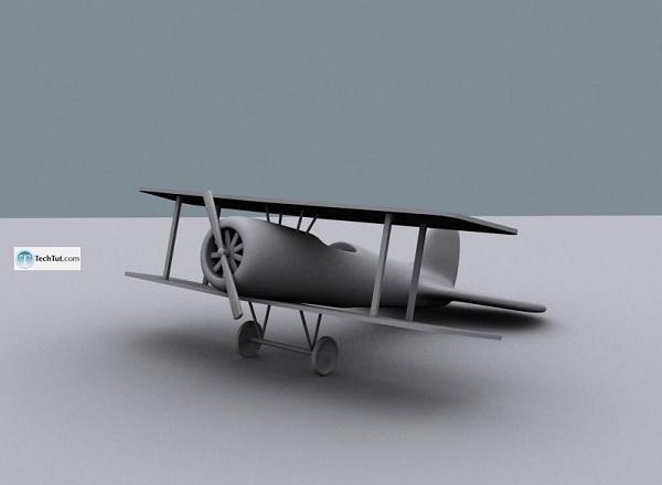 creating air plane model in 3d