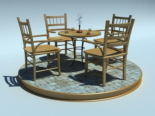 creating coffee table and chairs in 3d tutorial