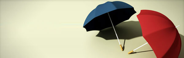 umbrella in 3d