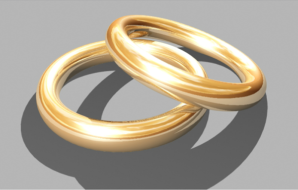 gold render in 3d