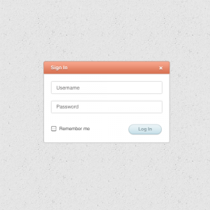 19 Sign-In-form Psd free