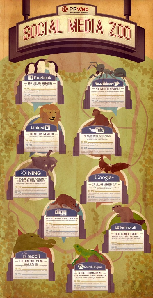 Social Media Zoo Infographic