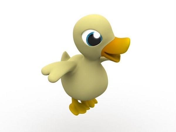 create cartoon duck 3d tutorial