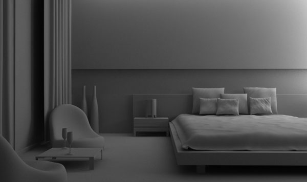 creating room interior scene in 3D Studio Max