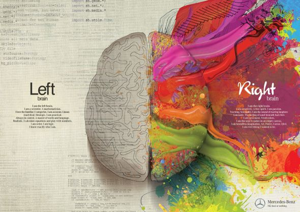 left brain vs right brain infographic