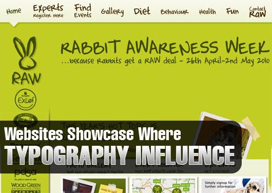 typography in websites