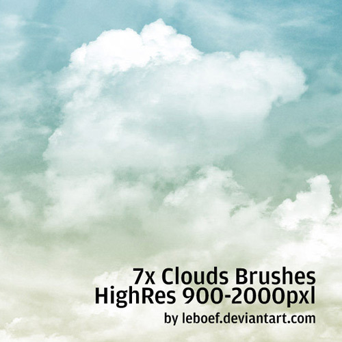 12 cloud brushes