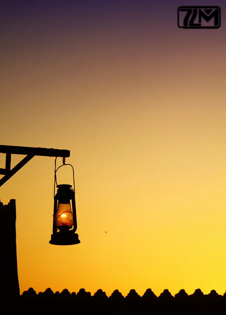 Silhouetted Lantern