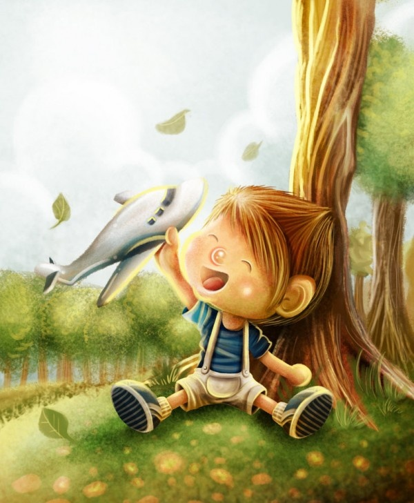The Forest Breeze - Childrens Illustration by Evan Raditya Pratomo