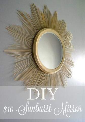 $10 DIY Sunburst Mirror