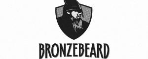 Bronze Beard Black and White Logo Design