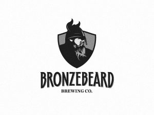 Bronze Beard Black and White Logo Design