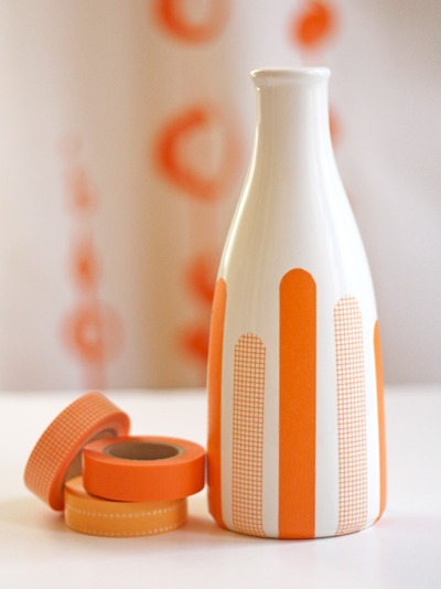 Create Your own Washi Tape Vase DIY Project