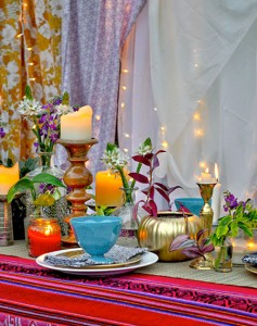 DIY Bohemian Centerpiece Idea