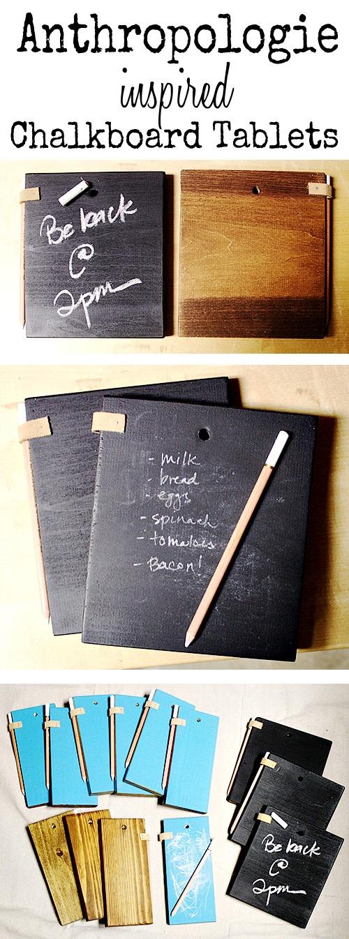 DIY Chalkboard Tablets