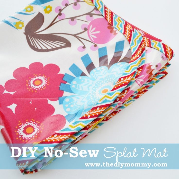 DIY No-Sew Splat  Messy Mat