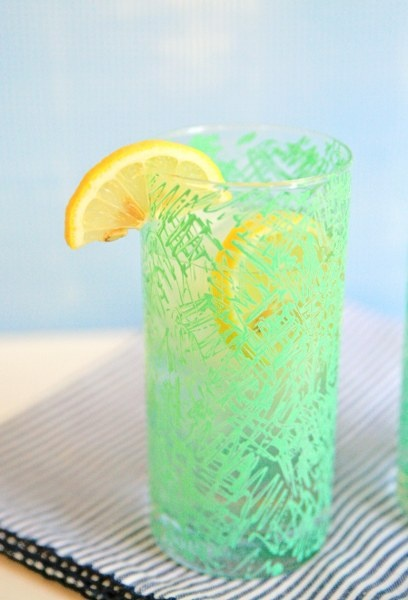 DIY Retro Scribble Painted Glassware
