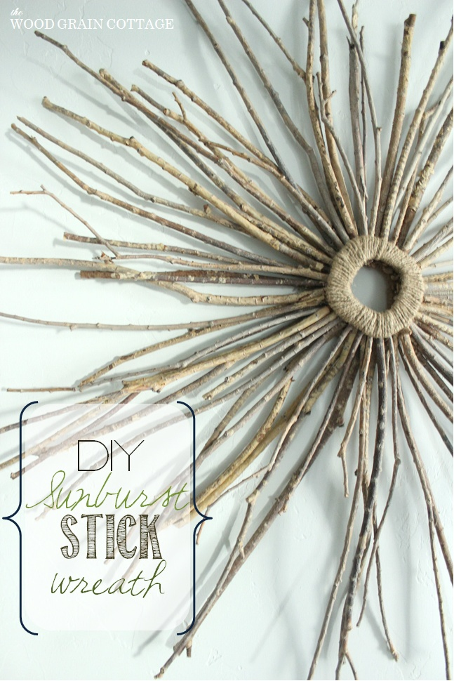 18 fabulous diy crafts and home decor tutorials simple for Diy twig decor