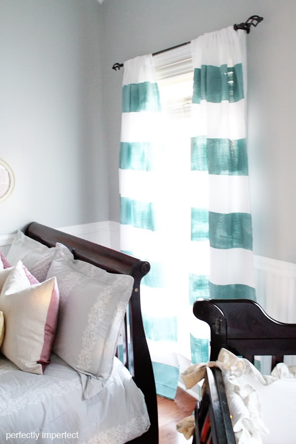 DIY Striped Curtains with Provence Chalk Paint