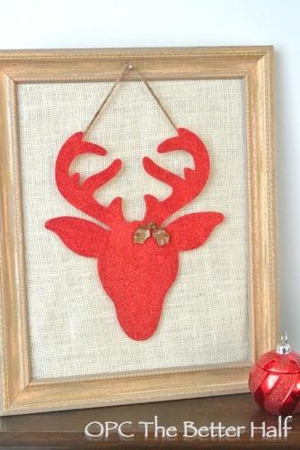 Sparkle Reindeer DIY Art